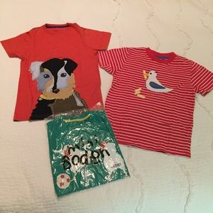mini Boden 7-8Y Bundle of 3 Appliqué Tees